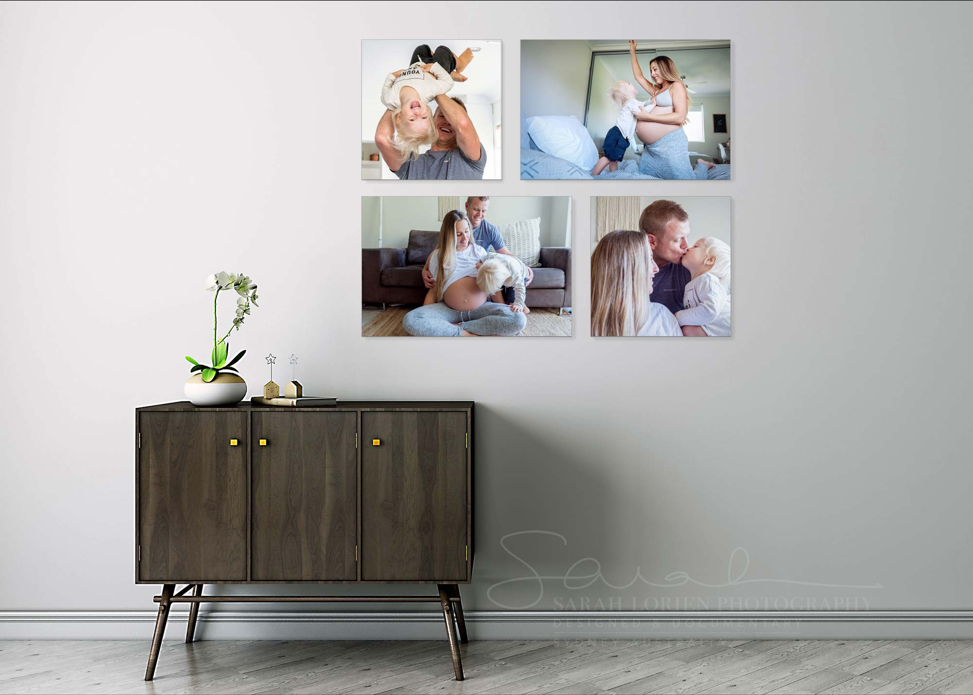 wall art of family photography
