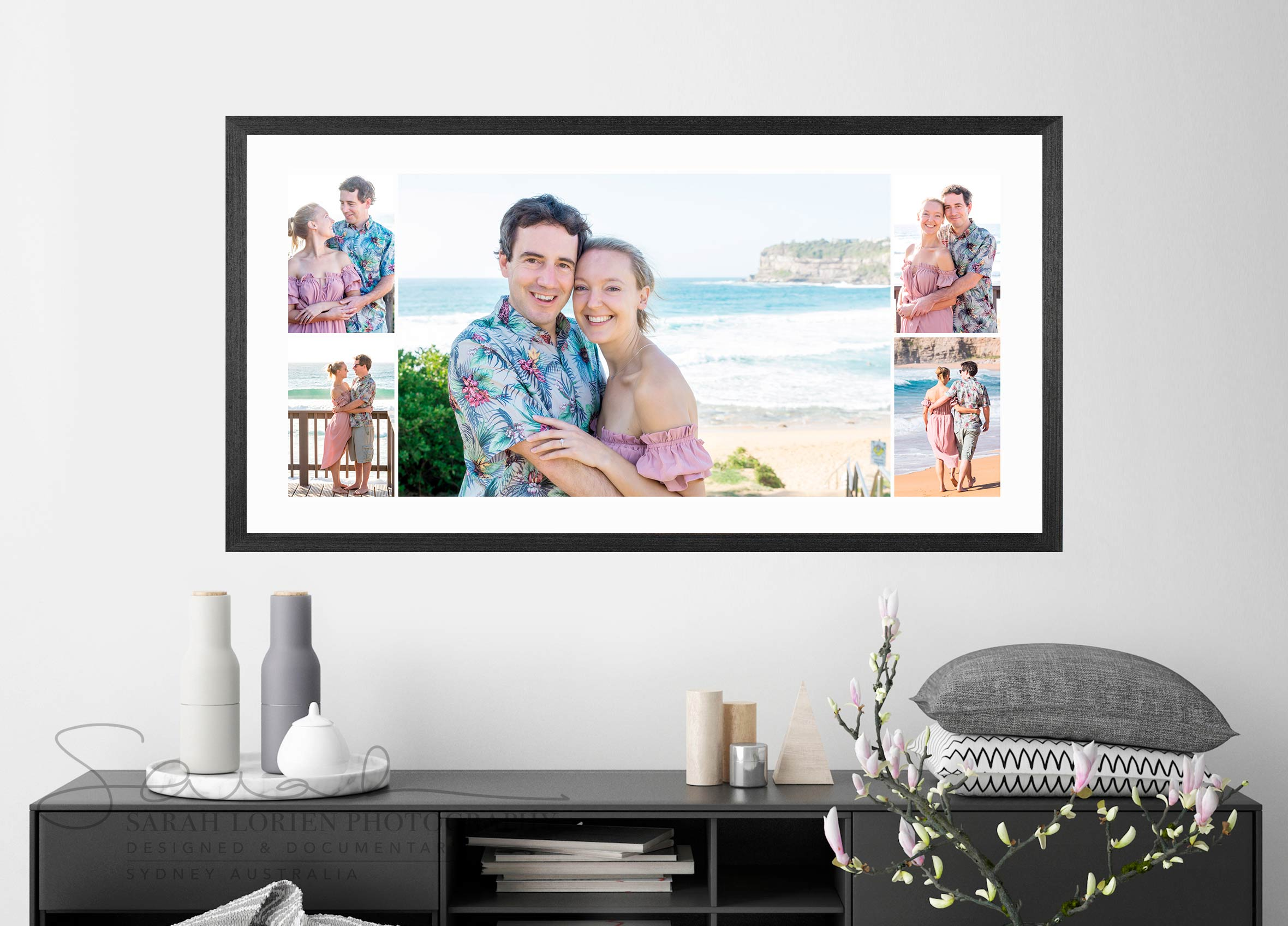 Framed photo montage engagement photography