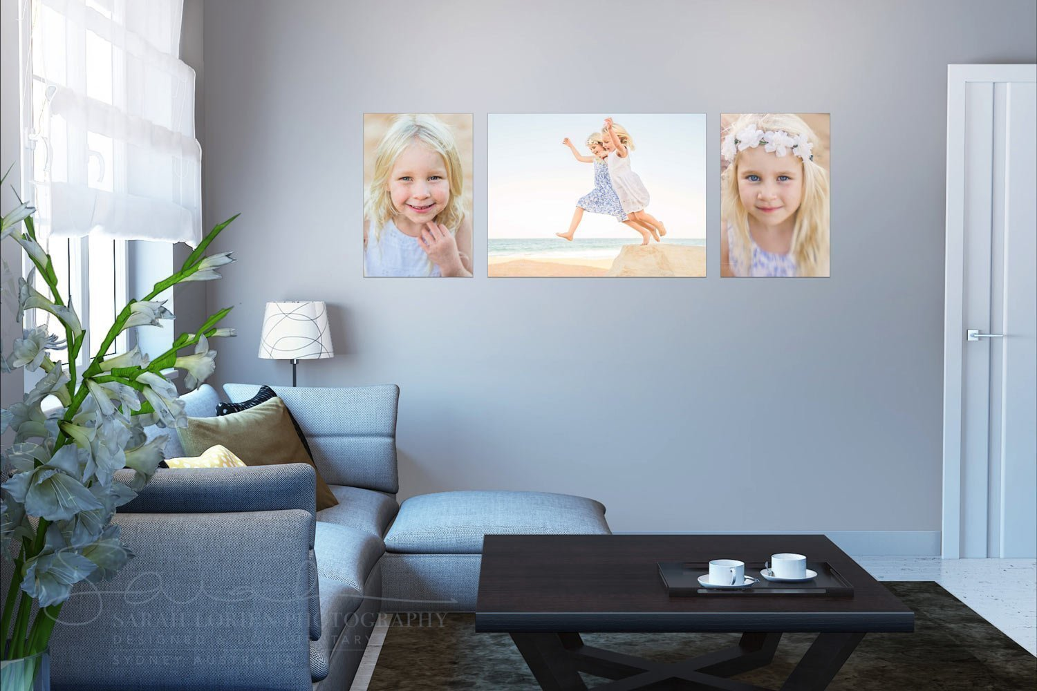 canvas prints on living room wall